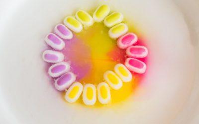 12. Tęcza z cukierków